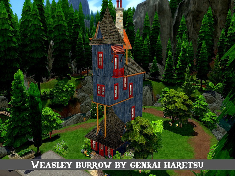 Weasley Burrow - Sims 4 CC