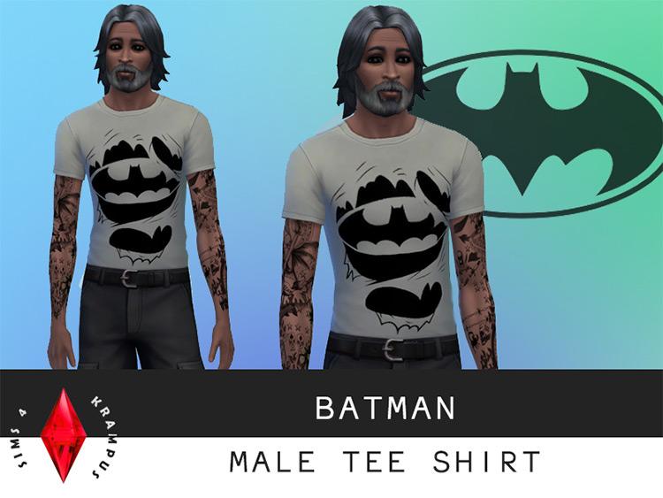 Batman T-Shirts CC in Sims 4