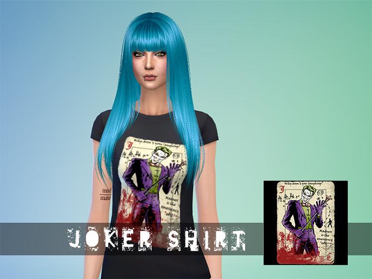 Joker Shirt CC in The Sims 4