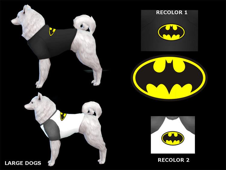Batman T-Shirt For Large Dogs CC