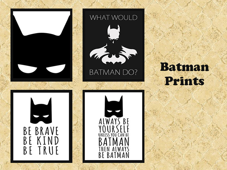 Batman Prints wall art - Sims 4 CC