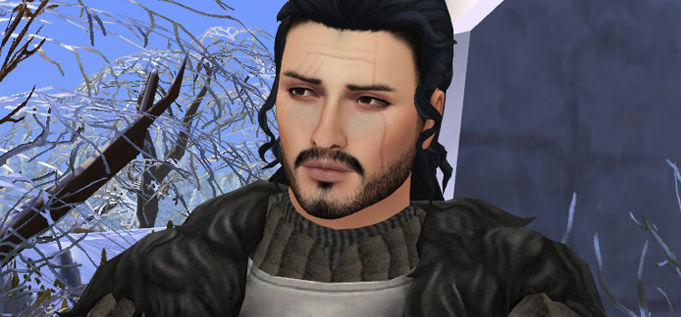 Jon Snow character in The Sims 4