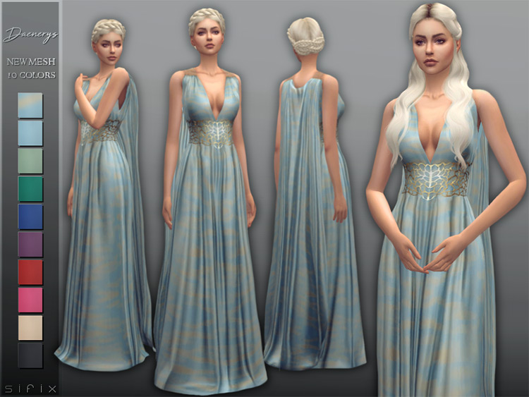 Daenerys Dress in The Sims 4