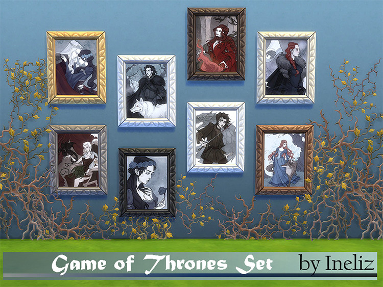 Game of Thrones Portraits in The Sims 4