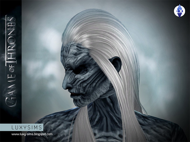 White Walker Makeup in The Sims 4