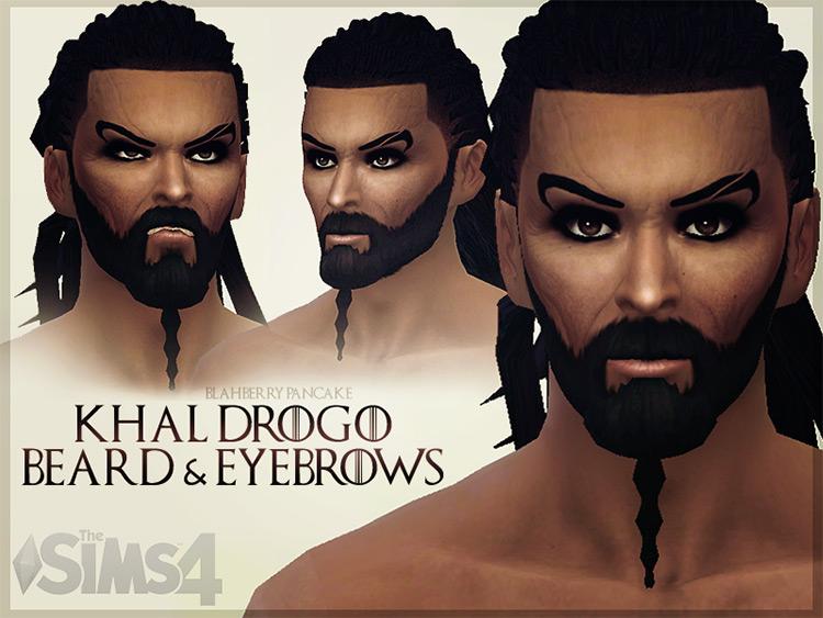 Khal Drogo: Beard & Eyebrows Set - TS4 CC