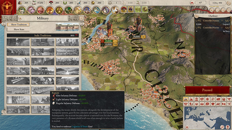 Historical Units and Military Traditions for Imperator Rome