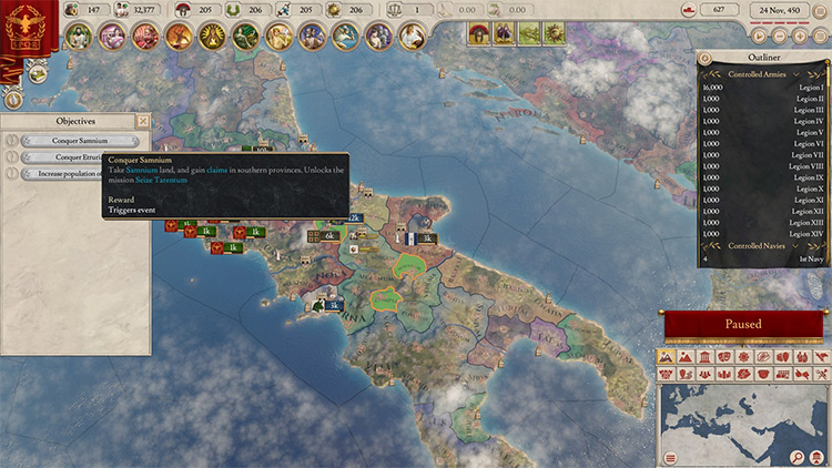 Missions Mod for Imperator Rome