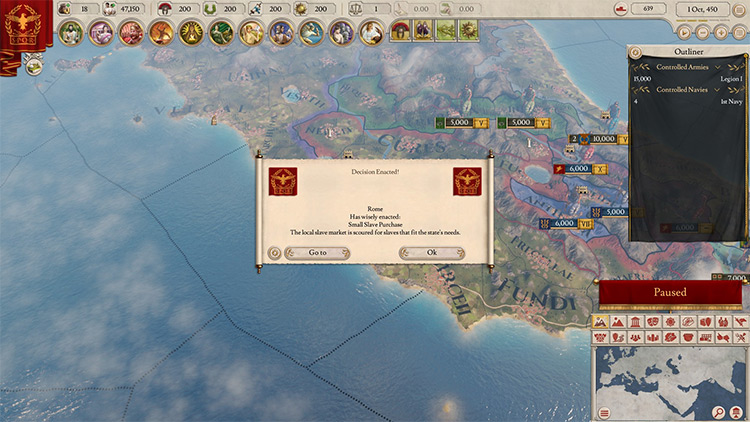 Buy and Sell Slaves Mod for Imperator Rome