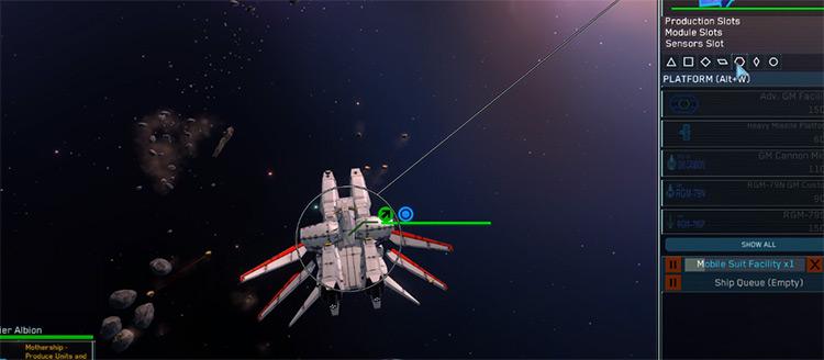 Gundam Mod Screenshot - Homeworld 2
