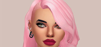 Side-Shaved Pink Hairdo CC - SIms 4