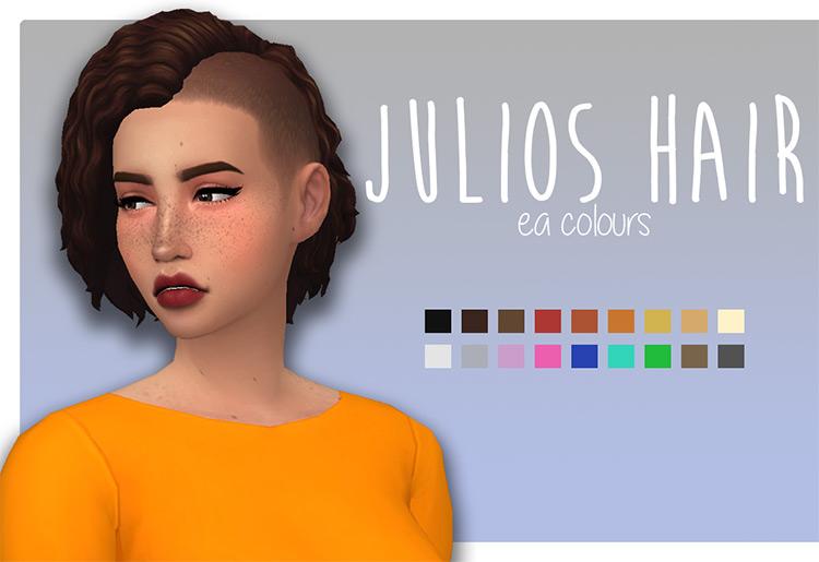 Julios Hair girl's short side shaved