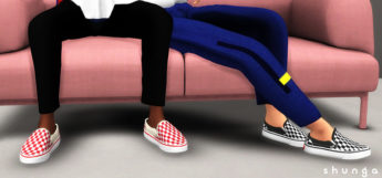 Sims 4 CC Screenshot - Vans Slip-Ons Shoes