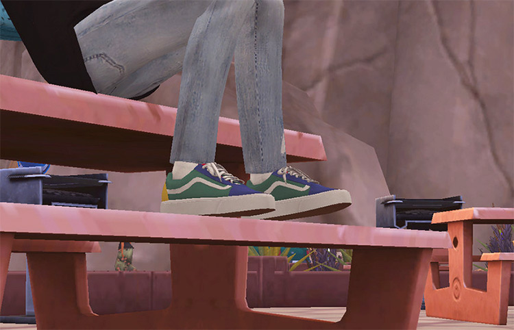 Wock's Old Skool Vans - Sims 4 Sneakers CC