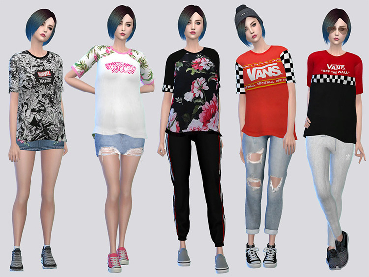 Van Tees Female - Sims 4 CC