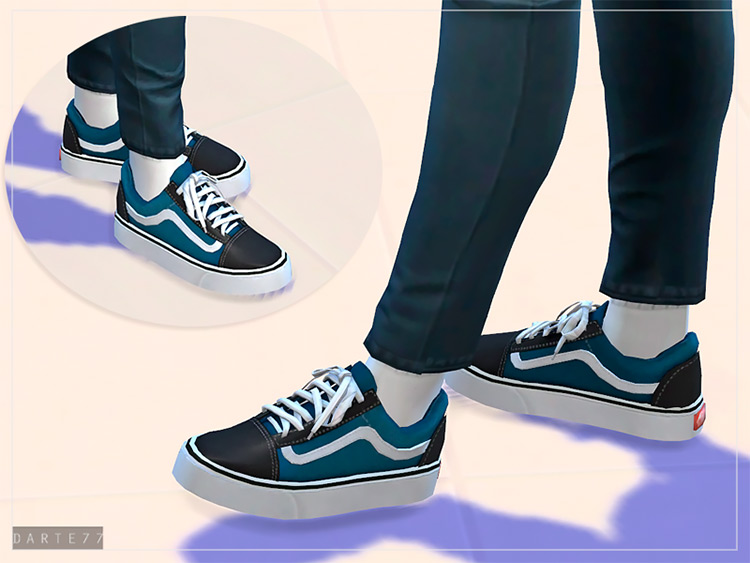 Old Skool Vans for Girls - Sims 4