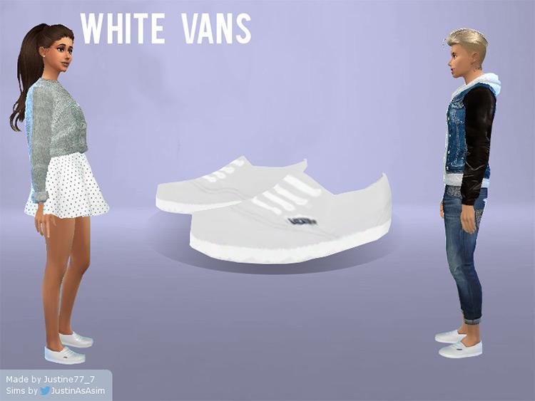 Sneakers White Vans - Sims 4 CC