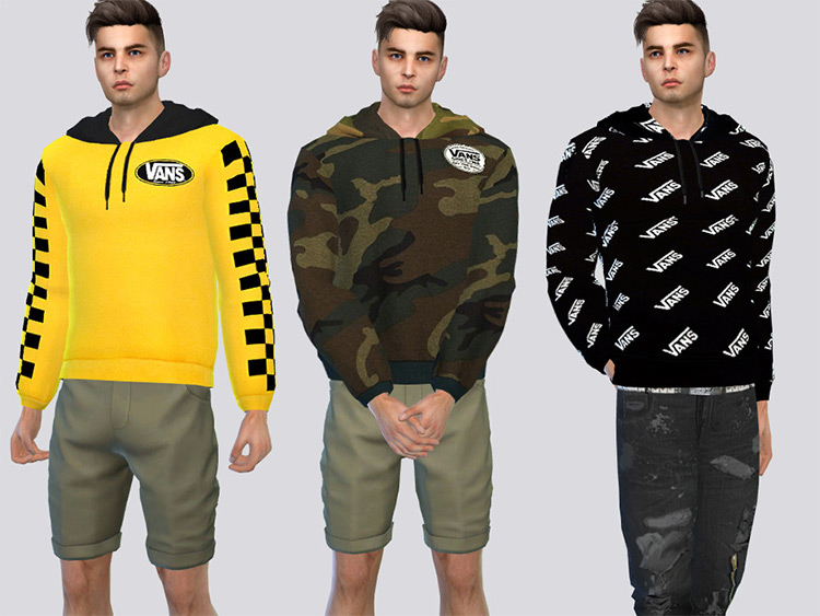 Vans x Spitfire Hoodies for Sims 4