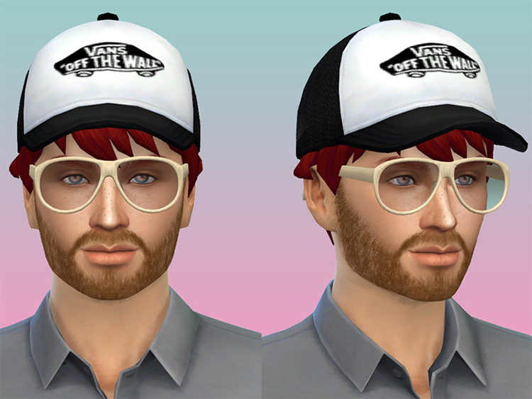 Black Vans Hat for Sims 4
