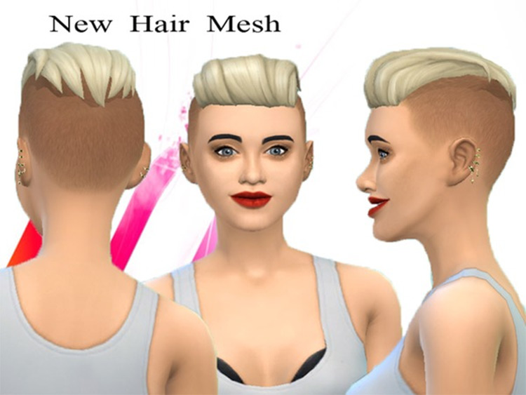 Slick Back Punk Hair CC for The Sims 4