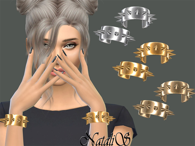 Metal Spikes Cuffs Mods for Sims 4