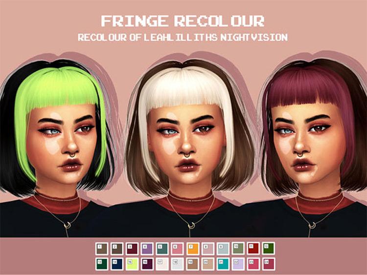 Night Vision Fringe Hair CC