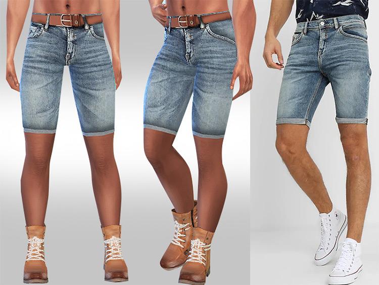Denim shorts for men - TS4 CC