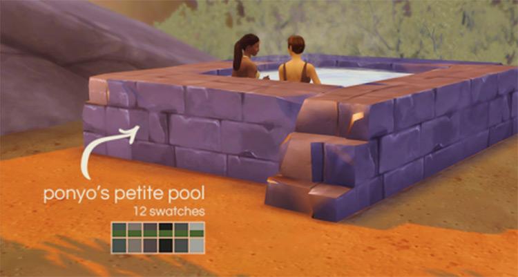 Small stone hot tub basic TS4 CC