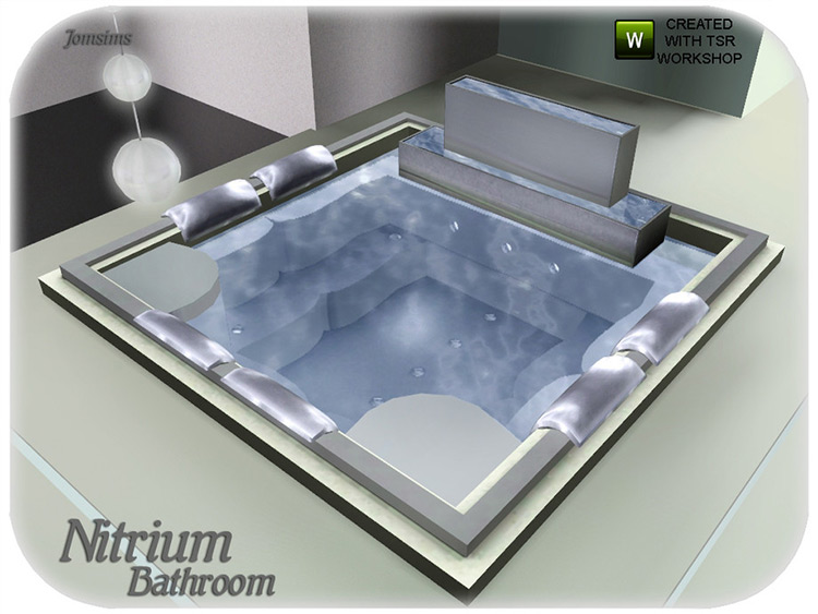 Spa-style jacuzzi Sims 4 CC