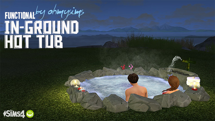Working in-ground hot tub CC - Sims 4