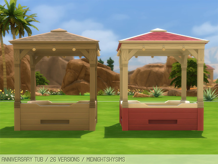 Basic anniversary hot tub CC for The Sims 4