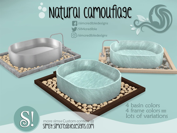 Camouflage Hot Tub CC for The Sims 4