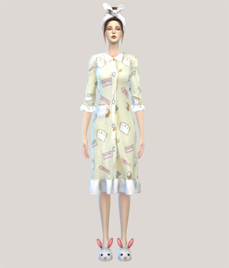 Algu asian style Sims 4 CC pajamas