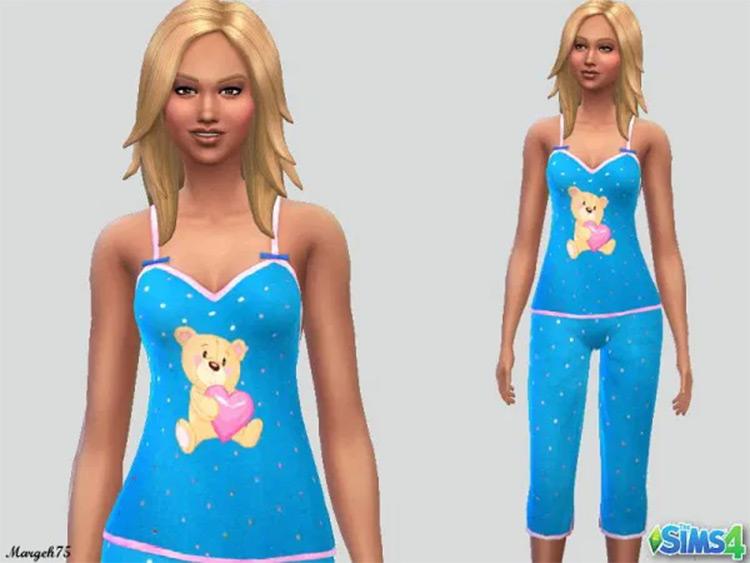 Teddy Bear girls pajamas - Sims 4 CC
