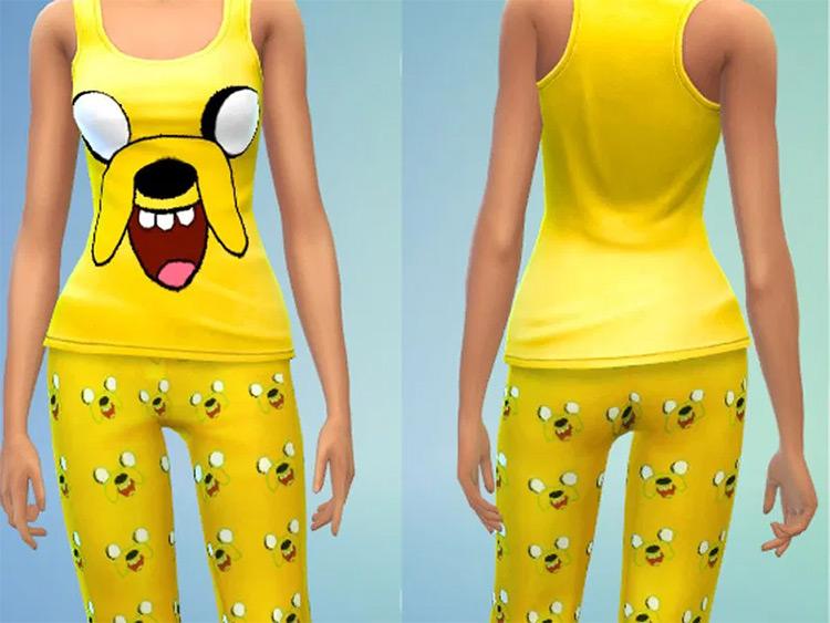 Adventure Time Jake Pajamas - Sims 4 CC