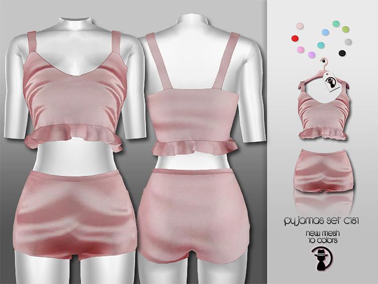 Top and bottoms pyjamas set - Sims 4 CC