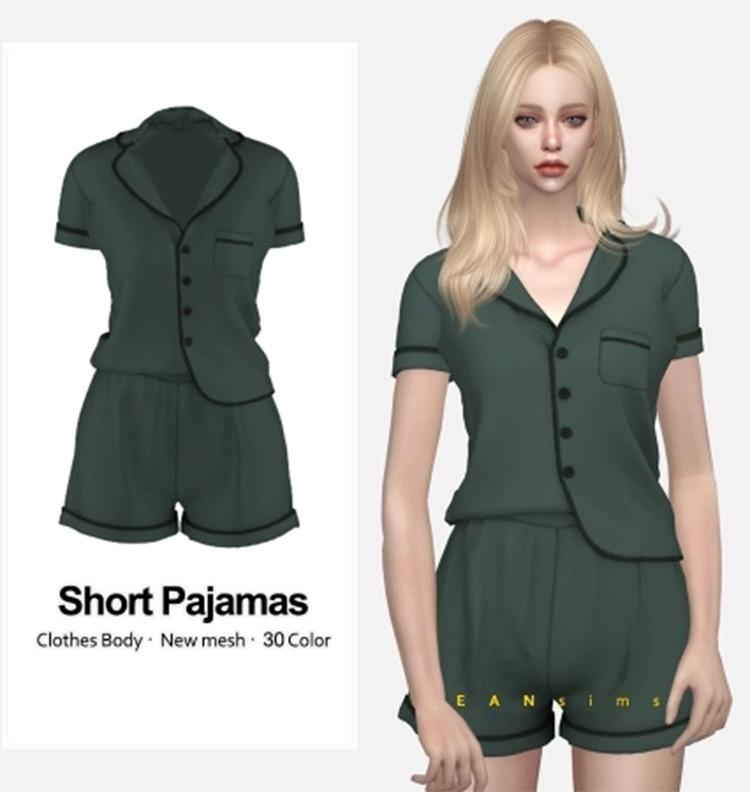 Shorts and pajama top Sims 4 CC