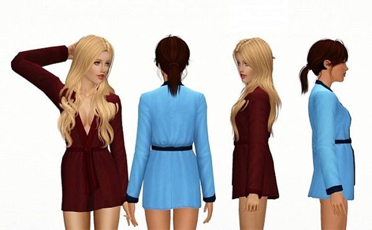 Closed Nightgown Sims 4 CC