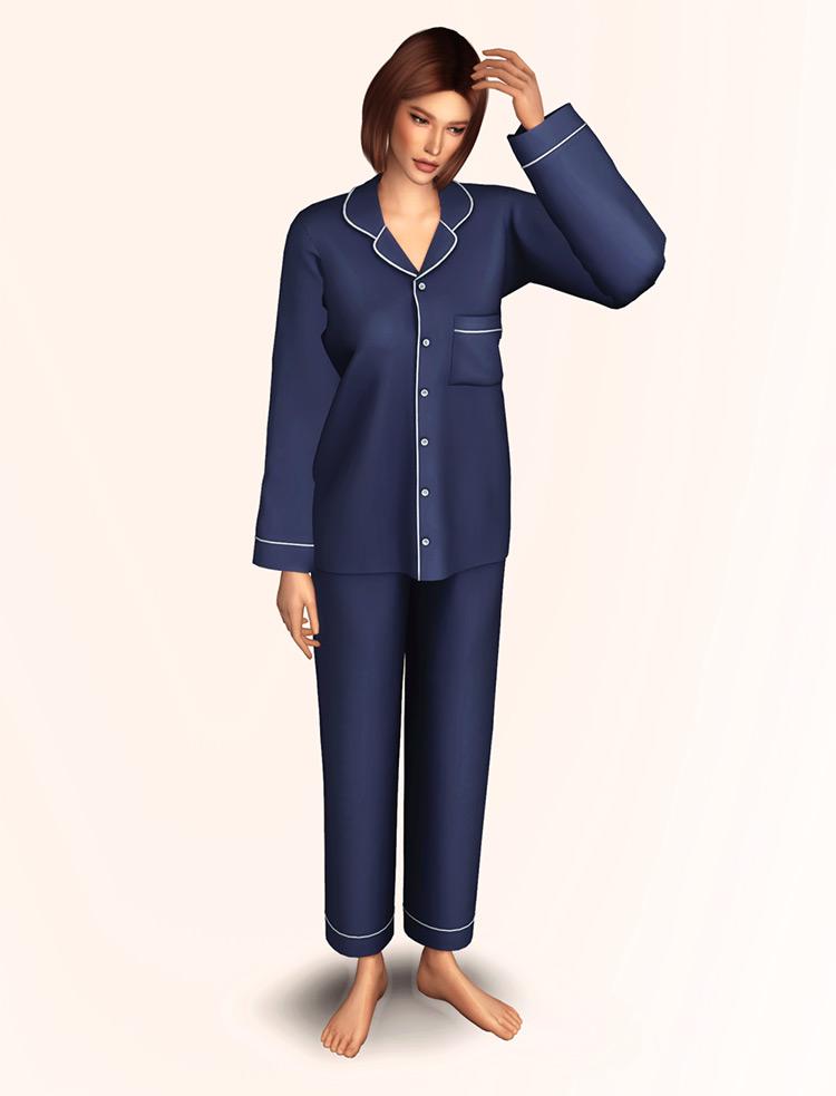 Pajama Set Sims 4 CC