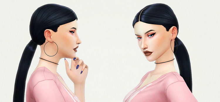 Best Ponytail CC Hair For The Sims 4 (All Free)