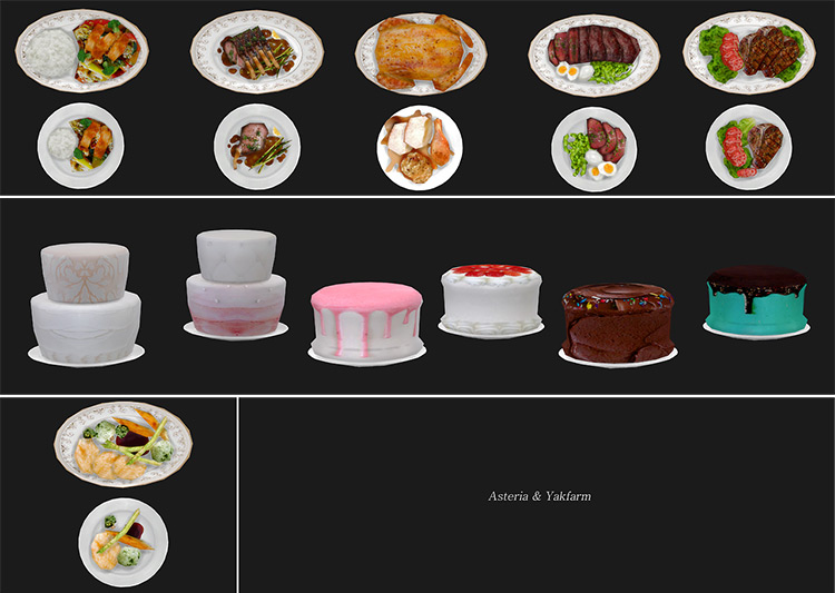 AsteriaSims' Food Texture Overhaul mod for Sims 4