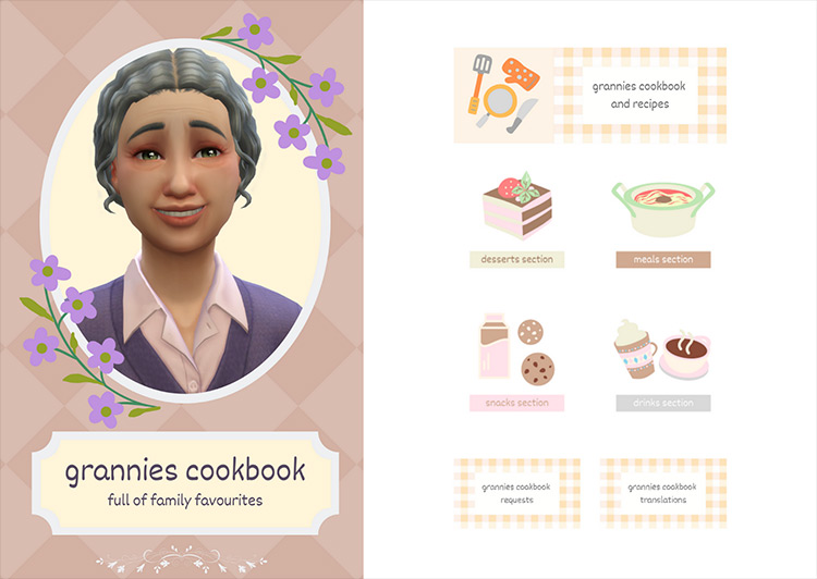 Granny's Cookbook mod for Sims 4