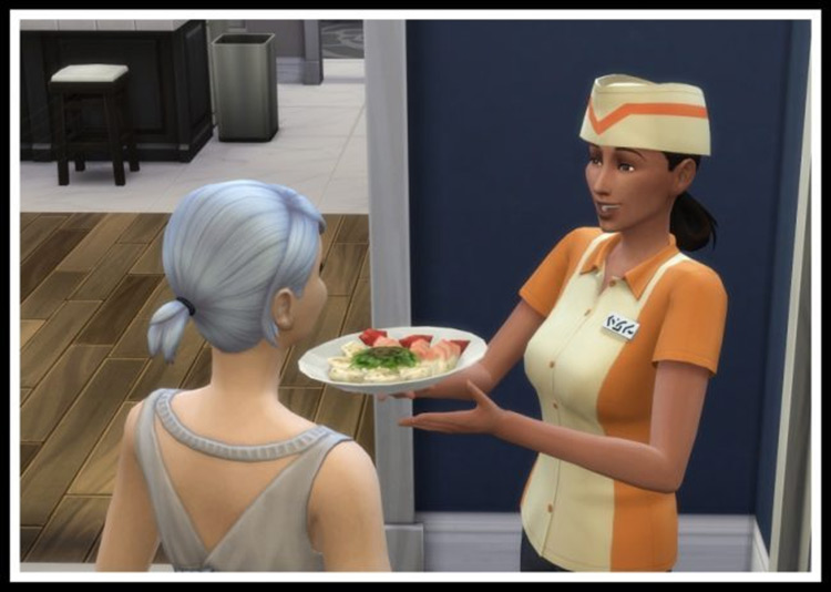 Food Delivery Service Sims 4 mod screenshot