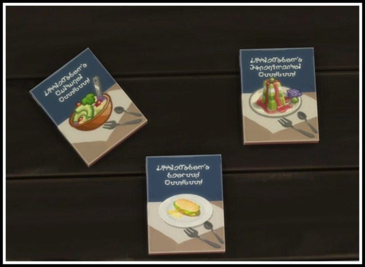 Assorted Cookbooks mod for Sims 4