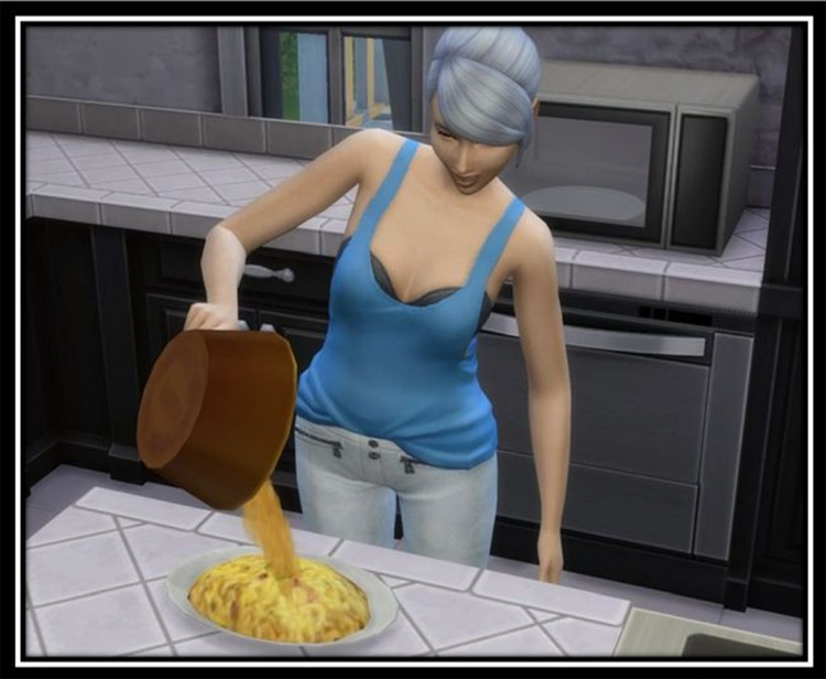 More Servings Options & Better Meal Time Menus Sims 4 mod