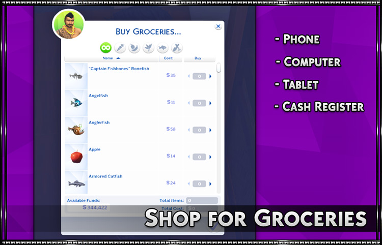 Shop for Groceries mod Sims 4 screenshot