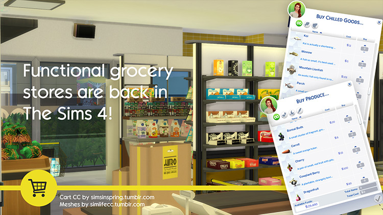 The Grocery Store Mod for Sims 4