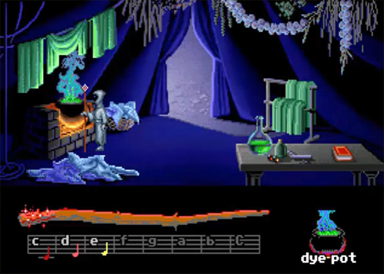 Loom Lucasarts gameplay screenshot