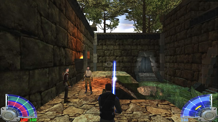 Star Wars Jedi Knight: Jedi Academy gameplay
