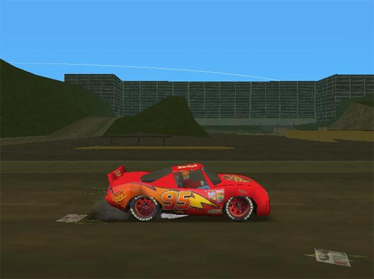 Lightning McQueen Mod for GTA VC